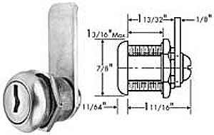 LOCK, CYLINDER (S/S FACE)