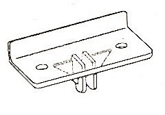CLIP,CLEAR PLASTIC (FRONT)