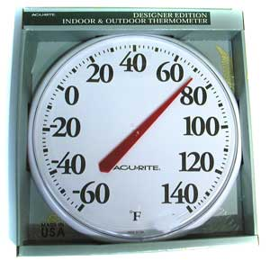 """THERMOMETER(-60/140F,12.5""""OD)"""