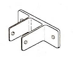 BRACKET, TWO EARED (PARTITION)