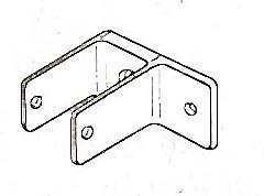 BRACKET, ONE EARED (PARTITION)
