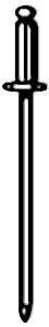 RIVET, BLIND (S/S,#43) (100)