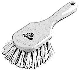 """BRUSH,CLEANING (8"""",WHT HANDLE)"""