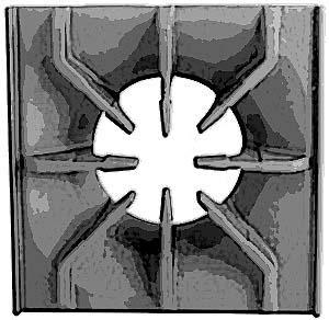 GRATE,CAST IRON(11-7/8X11-7/8)