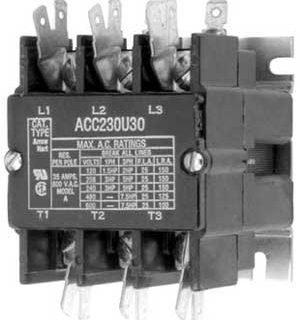 CONTACTOR (3 POLE,40 AMP,120V)