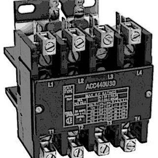 CONTACTOR (4 POLE,40 AMP,240V)