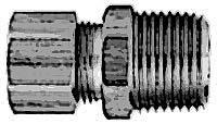 """CONNECTOR,MALE(1/4""""ODX1/4""""NPT)"""