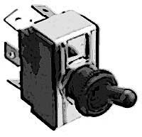 SWITCH,TOGGLE (DPDT, BLACK)