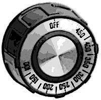 DIAL,T-STAT(100-450F,FLAT DWN)