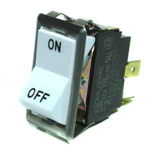 SWITCH, ON/OFF (SPST, WHITE)