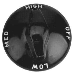 KNOB,ROTARY(OFF-LOW-MED-HIGH)