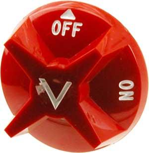 KNOB,GAS VALVE (RED,OFF/ON)