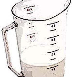 CUP, MEASURING (4 QT,CLR PLST)