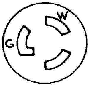 RECEPTACLE, LOCKING (L5-15R)