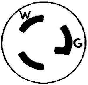 PLUG,LOCKING(L5-15P,SINGLE PH)