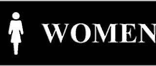 SIGN, WOMEN (WALNUT, 3X8)