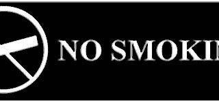 SIGN, NO SMOKING (WALNUT,3X8)