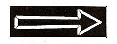 SIGN, ARROW (WALNUT, 3X8)