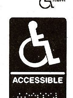 """SIGN,ACCESSIBLE(BRAILLE,6X9"""")"""