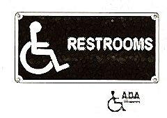 SIGN,ACCESSIBLE WASHROOM,7X14)