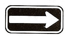 "SIGN,ARROW (6X12"",BLUE/WHITE)"