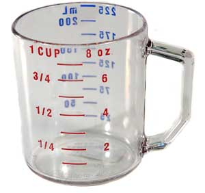 CUP,MEASURING(1 CUP,DRY,CLEAR)