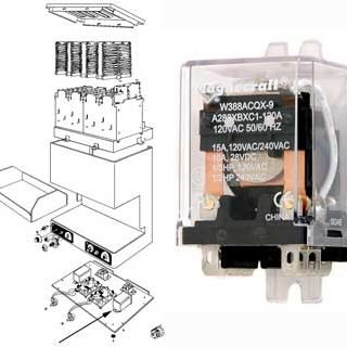 RELAY, TOASTER (120V, 6 TERMS)